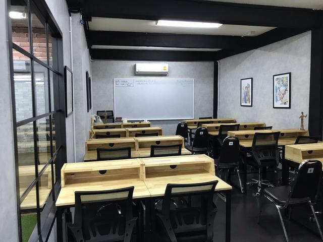 พื้นที่บริการ ห้องประชุม ห้องเรียน ห้องสัมนา คาเฟ่ โซนพักผ่อน
