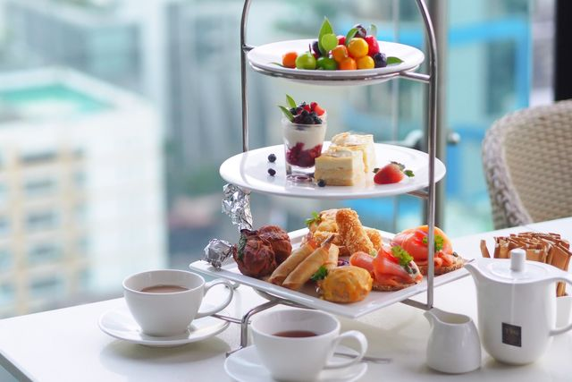 Business Talk with our High Tea - Club Sky Rooftop Lounge