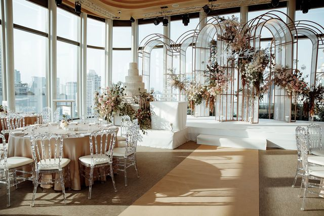 Wedding at The Crystal Box and Sky Terrace